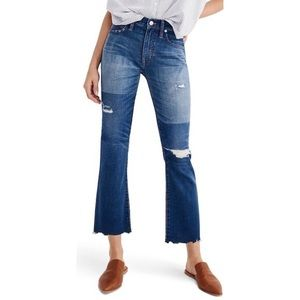 Madewell Cali Demi Boot Unpatched Jeans